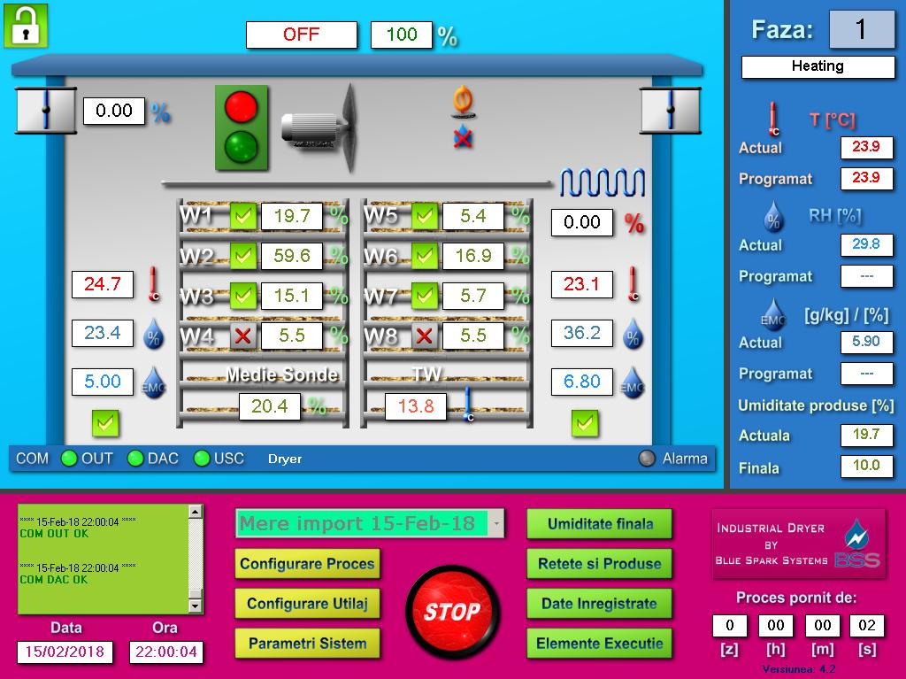Software automatizare uscator fructe